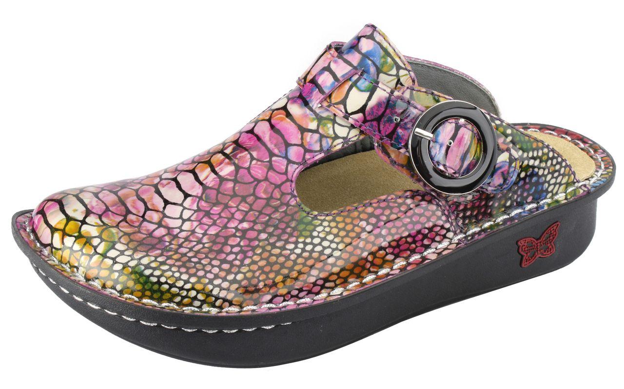 Alegria Shoes - Classic Rainbow Snake Clog, $119.95  (http://www.alegriashoes.com/products/classic-rainbow-snake-clog.html)