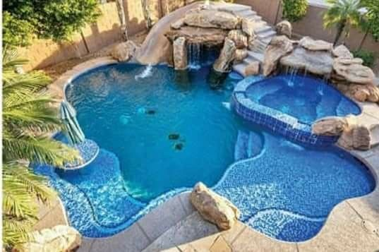 All The Features Swimming Pool Designs Luxury Pools Backyard Swimming Pools