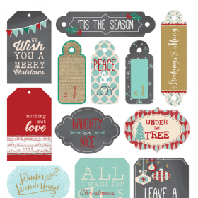 Holiday Tags, FREE Printable