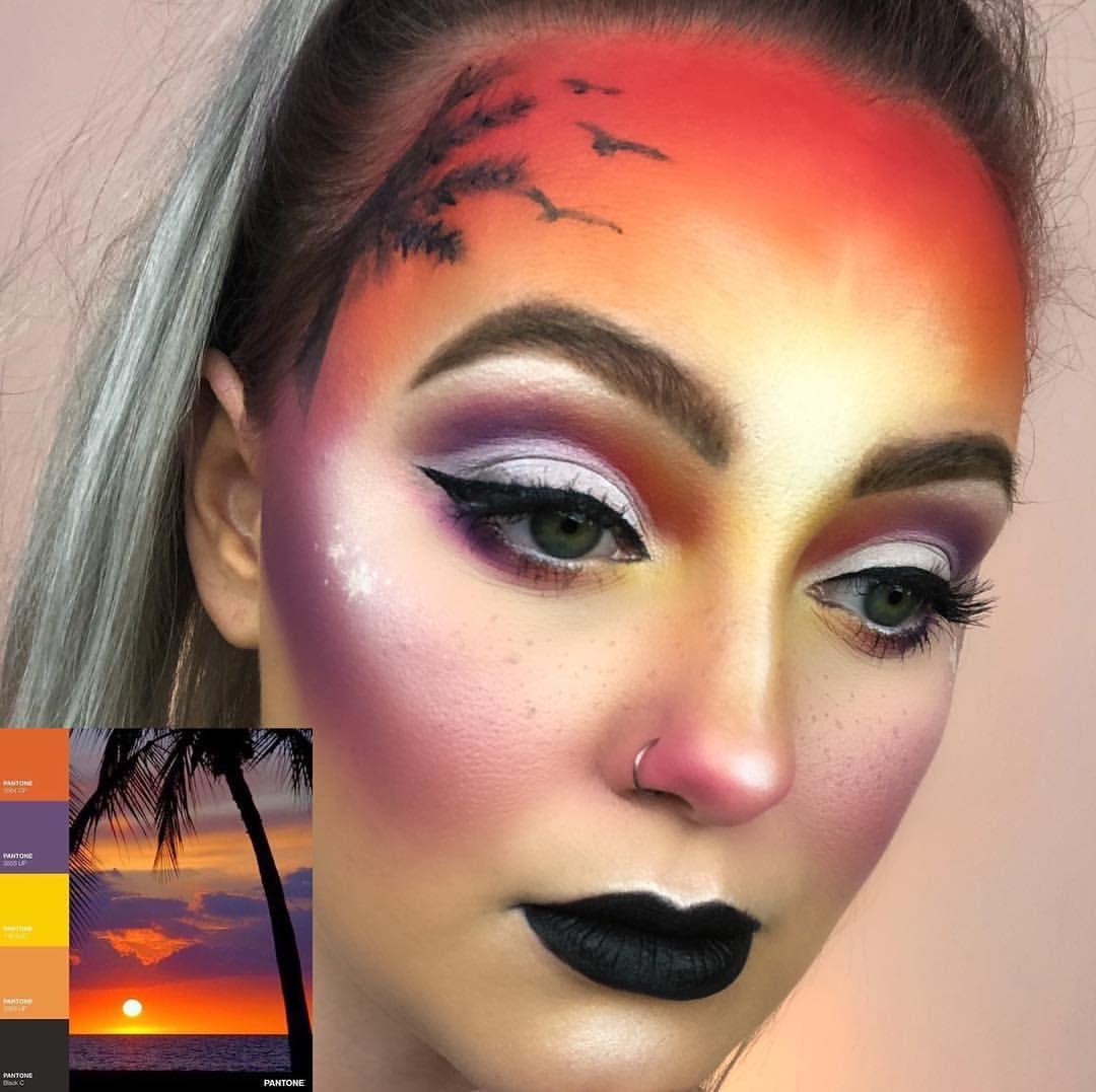 Hawaii Creative Makeup Look Using The James Charles X Morphe Palette Creative Makeup Looks Hawaii Makeup Halloween Looks