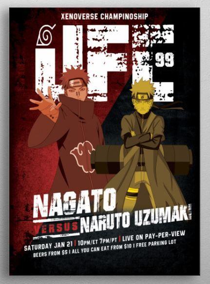 "Epic fight 4: Nagato (pein) VS Naruto Uzumaki Metal Print Displate. #displate explore Pinterest"">… | Displate thumbnail"