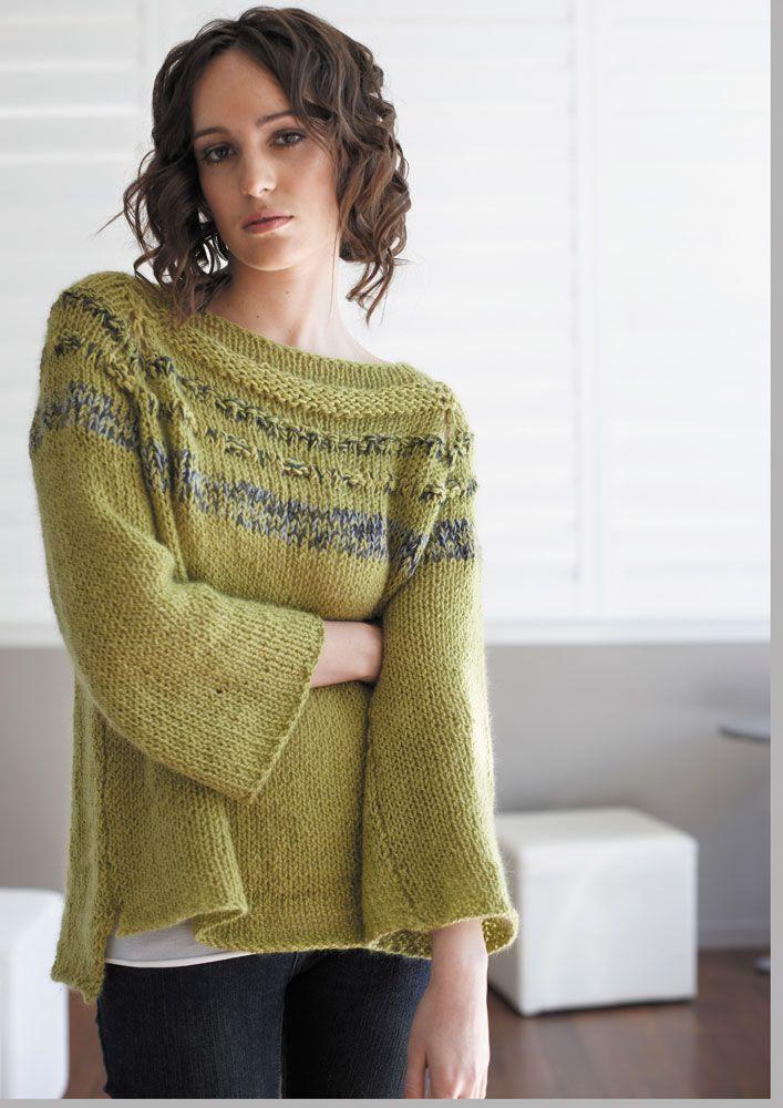 045 Loose Textured Sweater Digital Download Merran