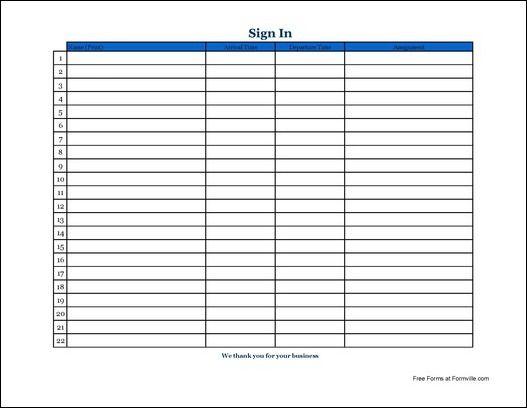 Sign In Sheet business template Pinterest Template - sign up sheet template