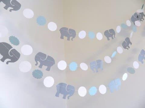 9a1e79971 Ideas de decoraciones con guirnaldas para baby shower