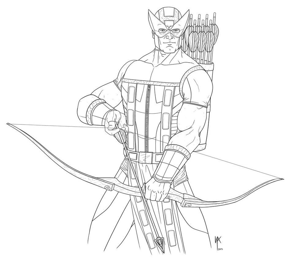 Hawkeye - digi sketch by ScottLewisART.deviantart.com on ...