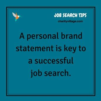 How To Create A Powerful Personal Brand Statement Jobsearch