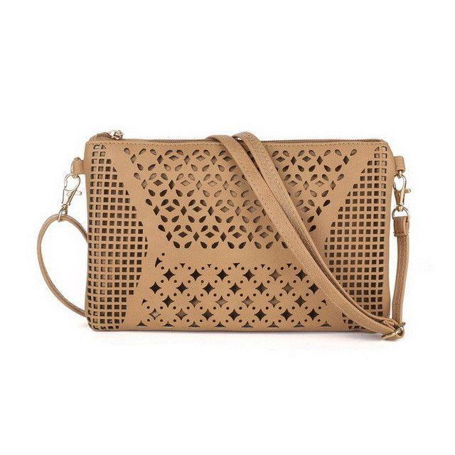 81f0f9ebd7 JIARUO Vintage Hollow Out Flower Envelope Bag Small Women Leather Crossbody bag  Shoulder bag Messenger bag Clutch Handbag Purses