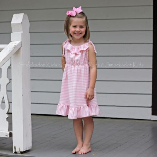 f76b88dcb0 Light Pink   Ivory Striped Knit Sun Dress