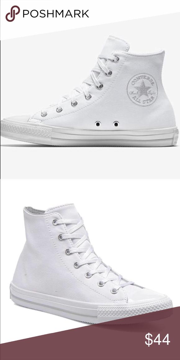 SALE Converse white hi top shoes Gemma