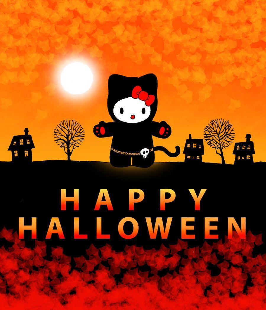 Hello Kitty Tapete Auf Rechnung : Hello Kitty Happy Halloween