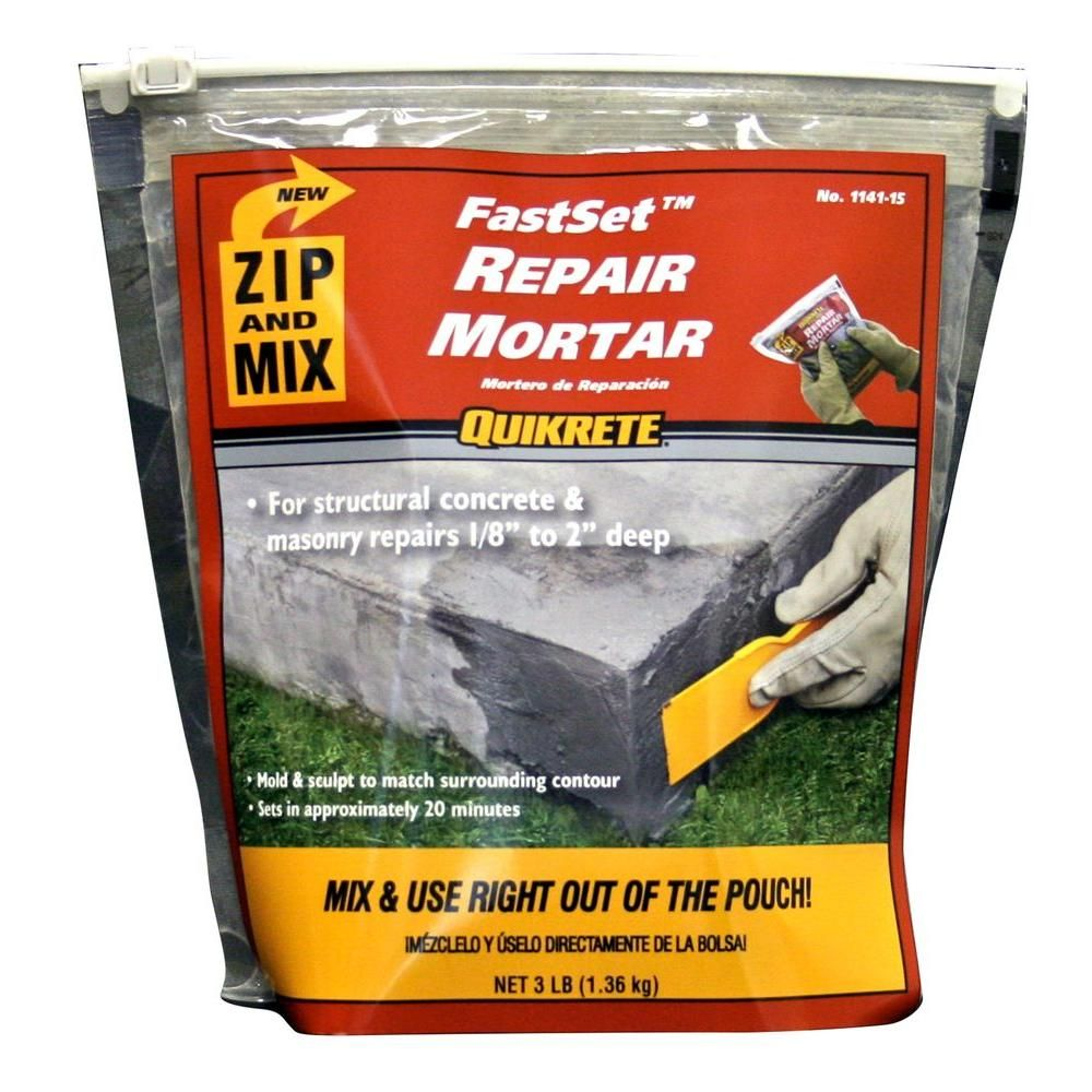 Quikrete 3 Lb Zip And Mix Repair Mortar Mortar Repair Repair Concrete