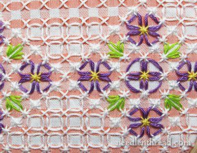 Chicken Scratch Gingham Lace Pattern Floral Corner 2 Chicken