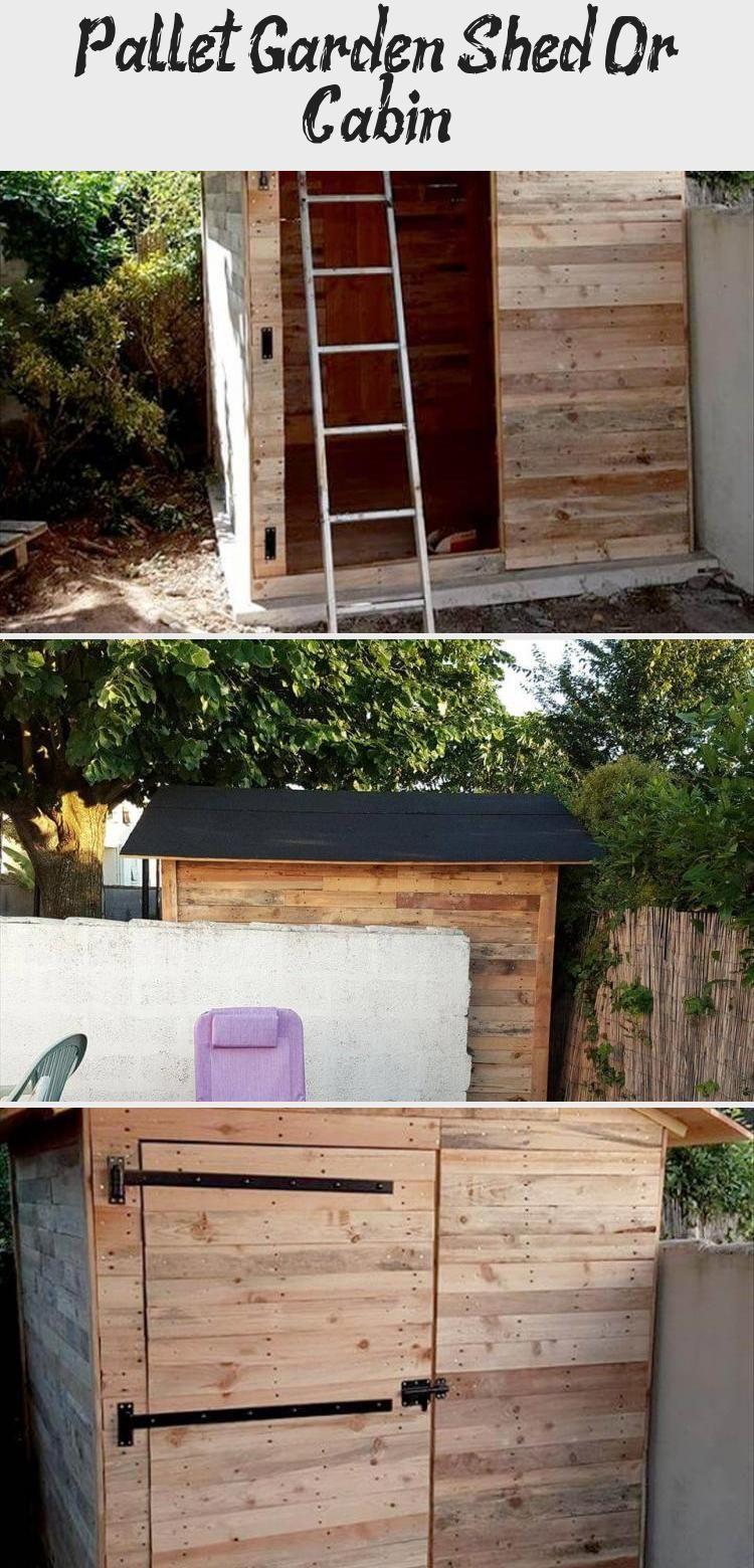 Photo of Pallet Garden Shed Or Cabin – Pallet