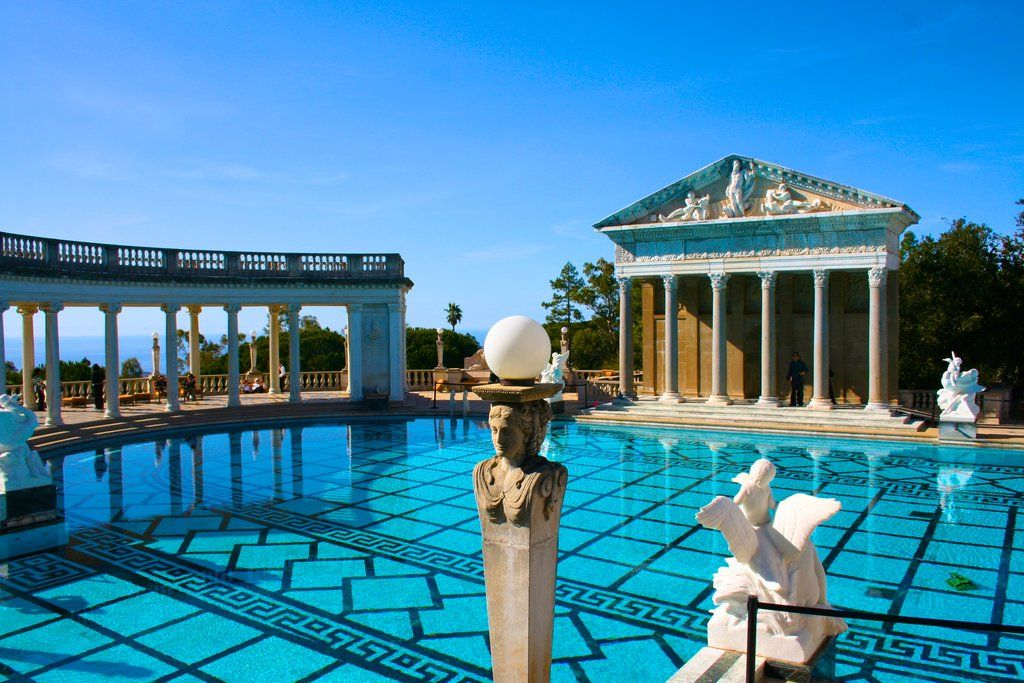 San Simeon Hearst Castle Greek Pool Front View by autumnewt on DeviantArt