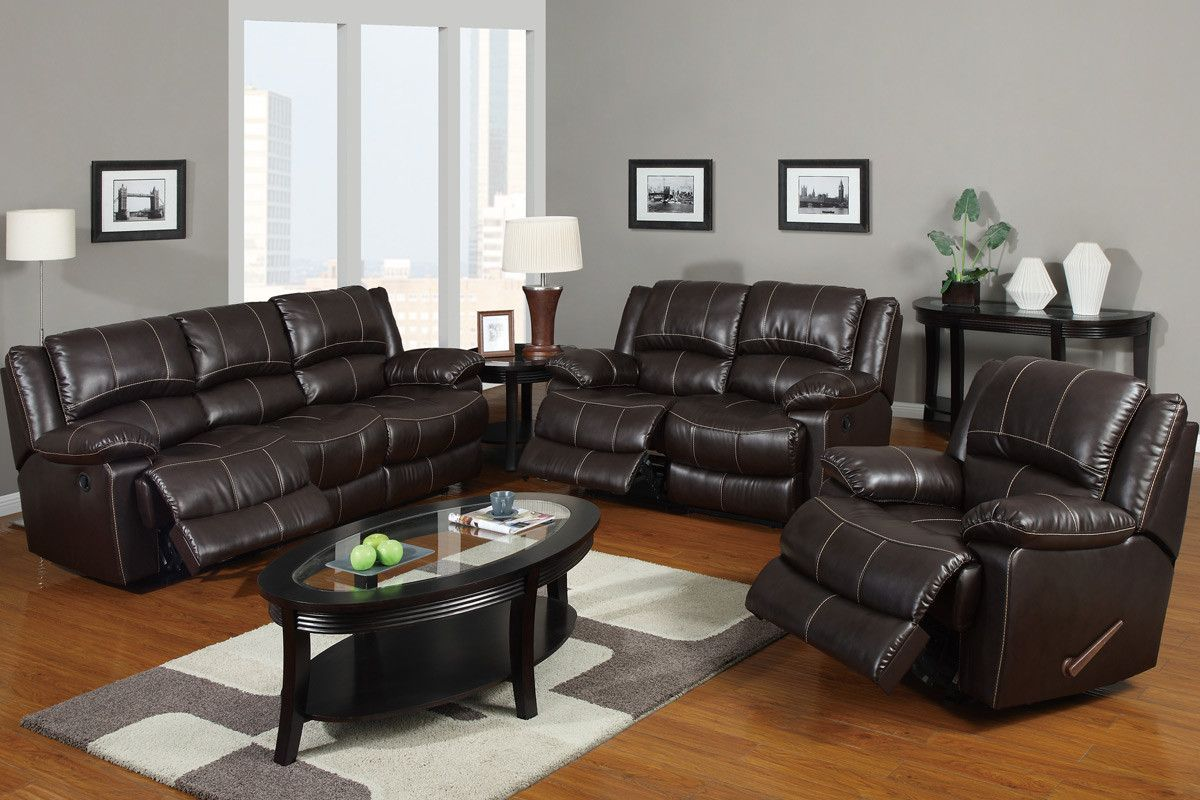 Dark brown · motion love seat f7088 family room furniture leather recliner bonded leather living room