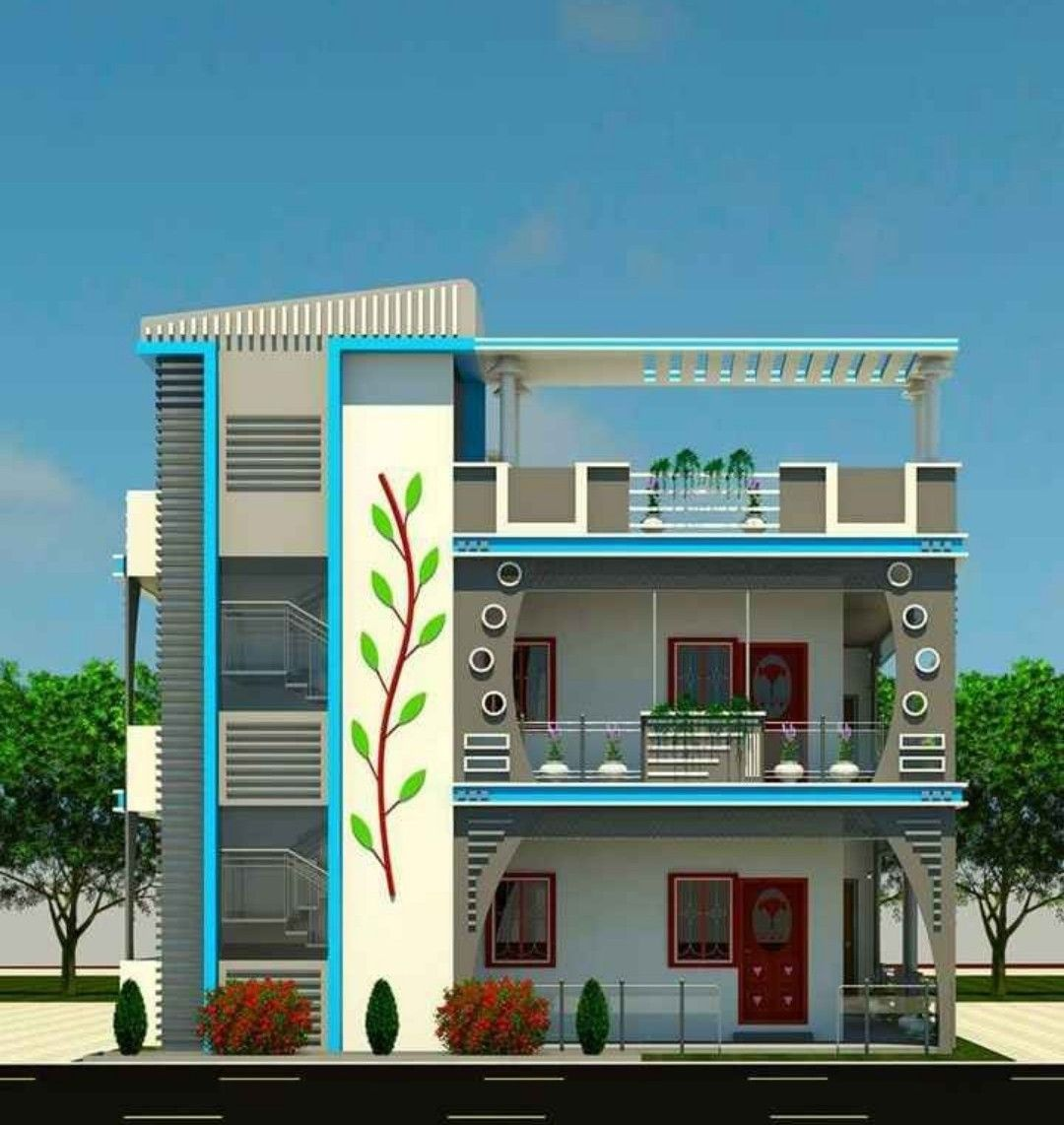 Pin By V Kalidass On House Designs House Front Design House Elevation Small House Elevation Design