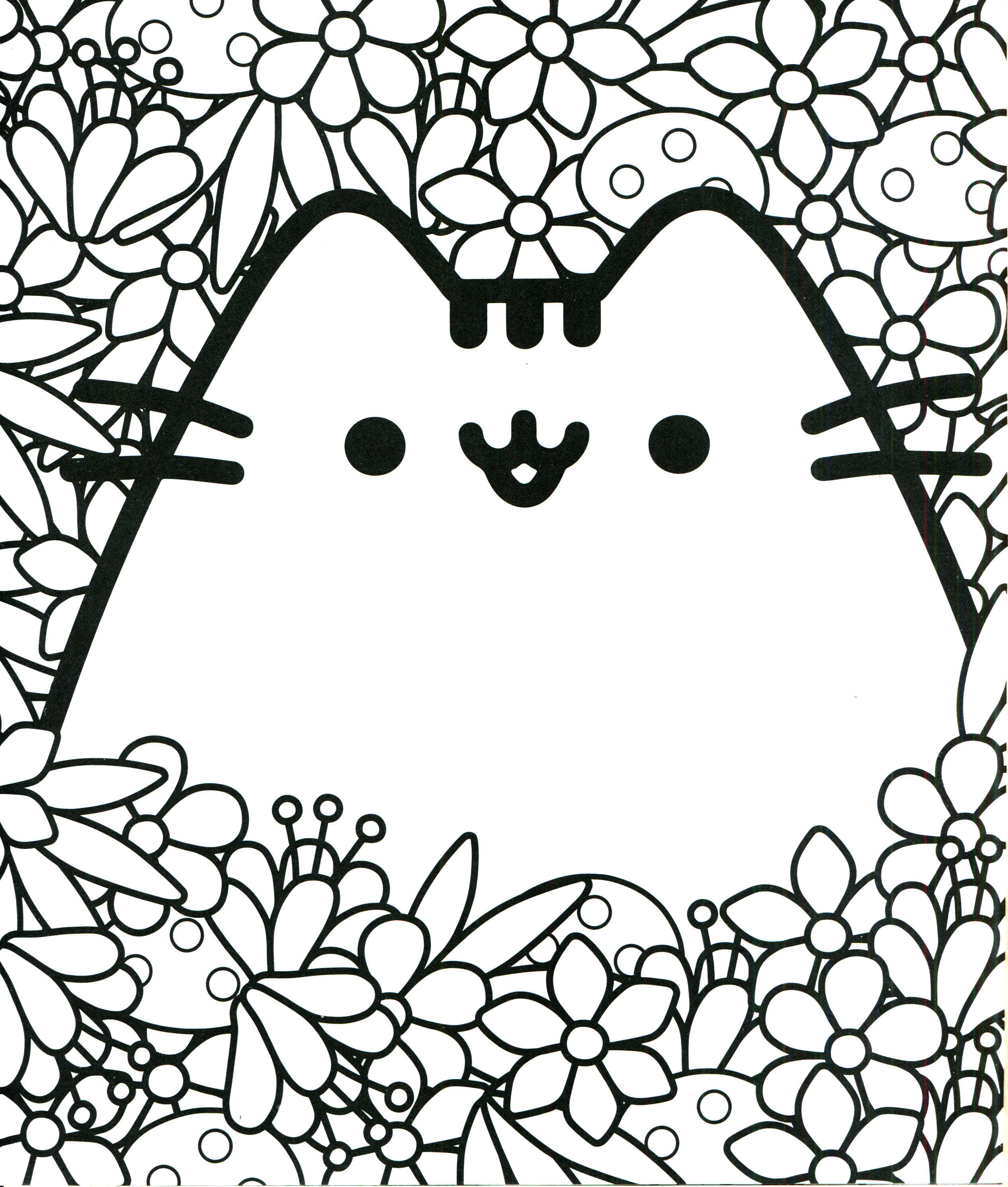 Pusheen Coloring Book Pusheen Pusheen the Cat | Color | Pinterest ...