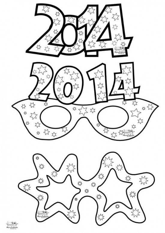 Recortables para año nuevo | crafts / manualidades bb | Pinterest ...