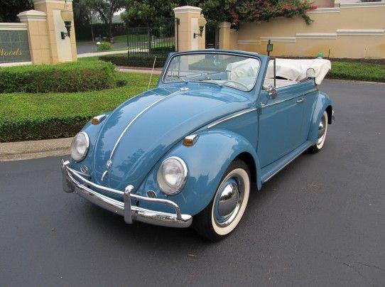 Sports Cars · Vintage Volkswagen Beetles | 1963 Vw Beetle Convertible  Restored Vw Finished In Its Original Sea .