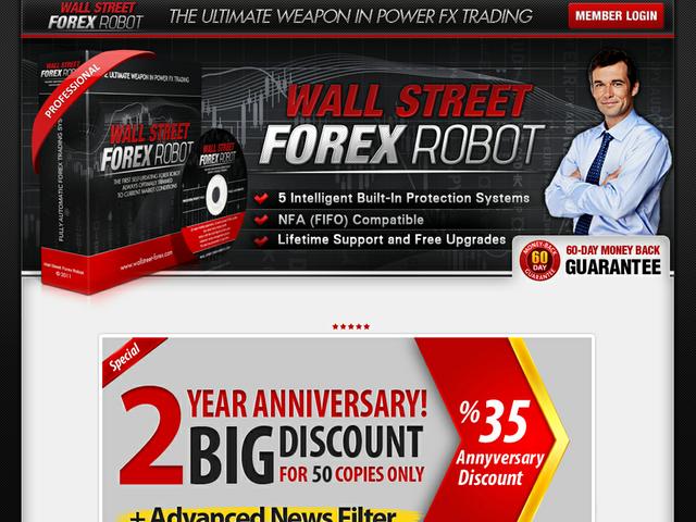 Wallstreet Forex Robot Review  Get Full Review : http://scamereviews.typepad.com/blog/2013/05/wallstreet-forex-robot.html