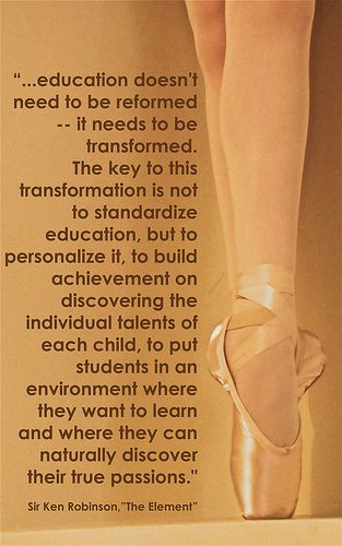 Sir Ken Robinson - The Element homeschooling quote