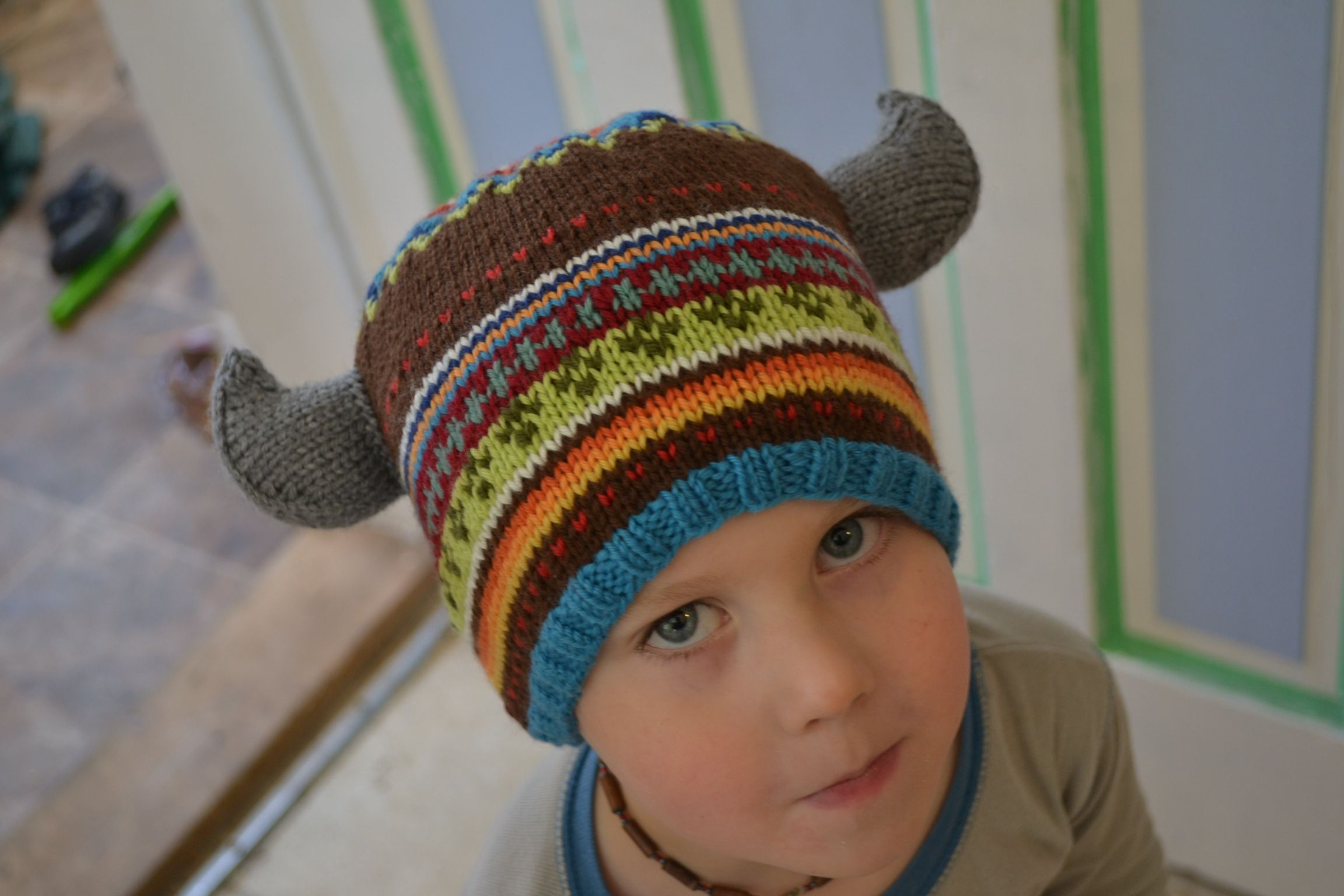Mighty Warrior Viking Horns. aknitica designs. to add to any hat ...