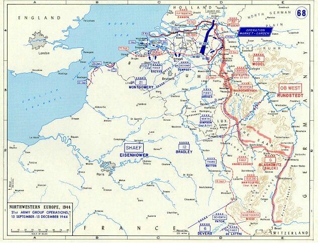 Operation Market Garden The Beginning Of The End Of Third Reich - Third reich map 1944