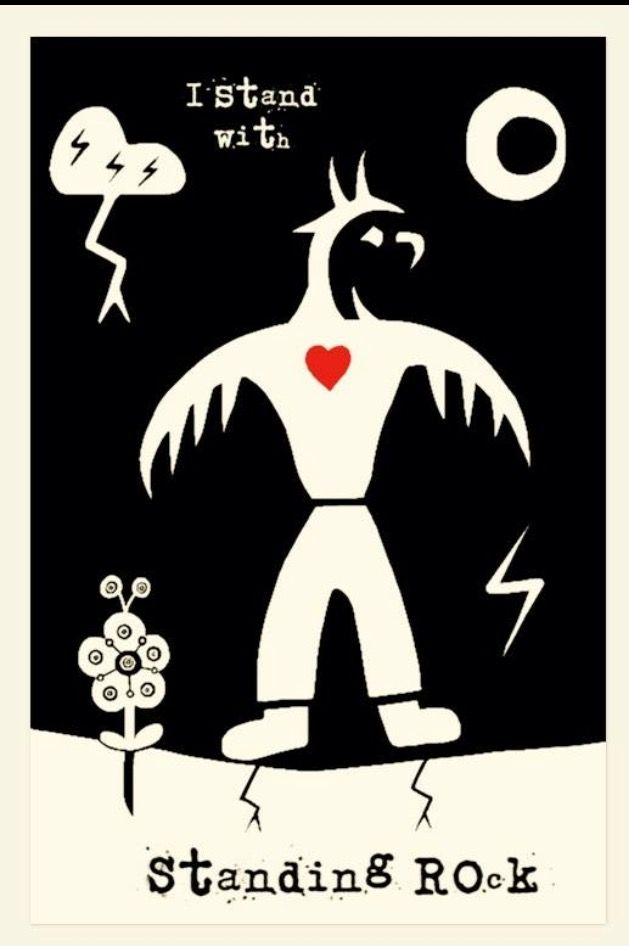 """""""My heart goes out to every living being on the planet. May we raise each other up, believe in life, and never ever surrender. <3 #WaterBolt #PowerToTheBirds"""" Artist Isaac Murdoch - Ojibway"""