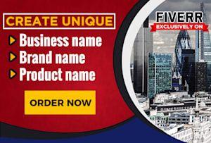 Cool & Creative Business Names Ideas List Generator
