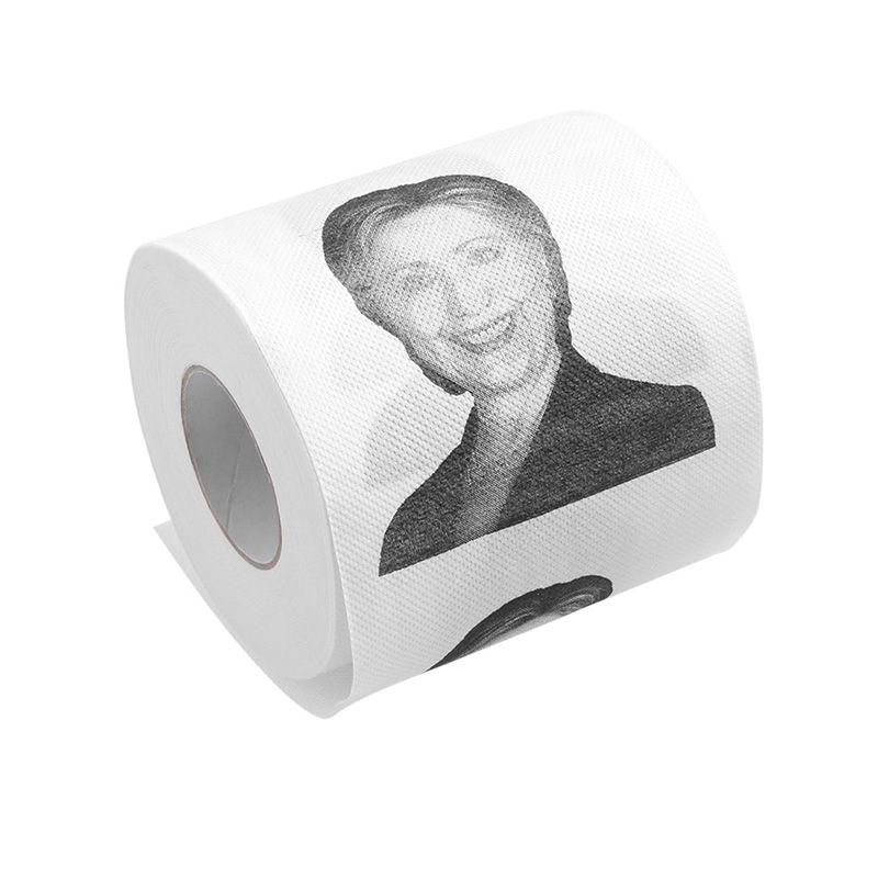 1Pc Hillary Clinton Smile Toilet Paper Roll Gag Prank Joke Gift 2 ...