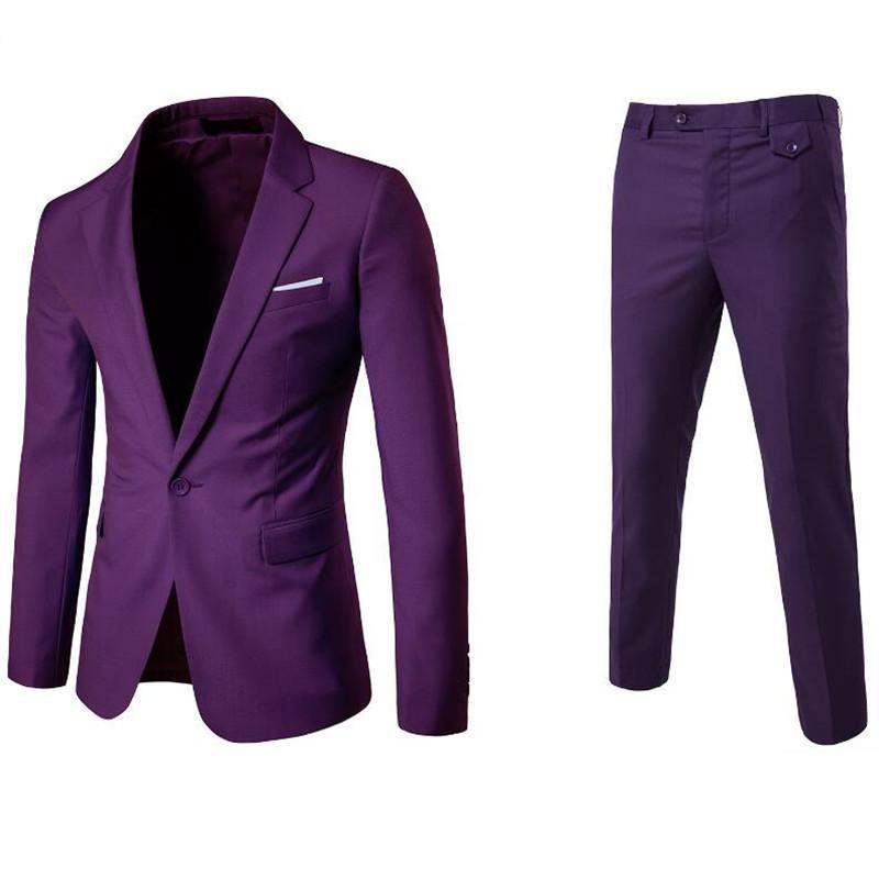 0ec61c5cd1 (Jacket+Pant+Vest) Luxury Men Wedding Suit Male Blazers Slim Fit Suits For  Men Costume Business Formal Party Blue Classic Black