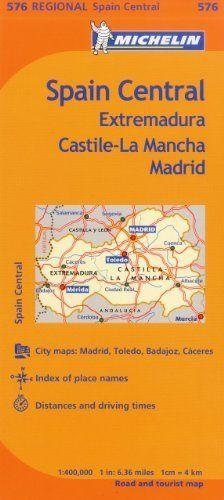 Michelin Spain Central Extremadura CastillaLa Mancha Madrid Map