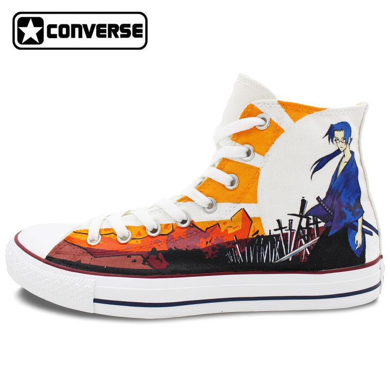 Wen Hand Painted Shoes Custom Converse All Star Canvas Sneakers Watermelon Original Design High Top Casual Shoes Unique Gifts for Men Women