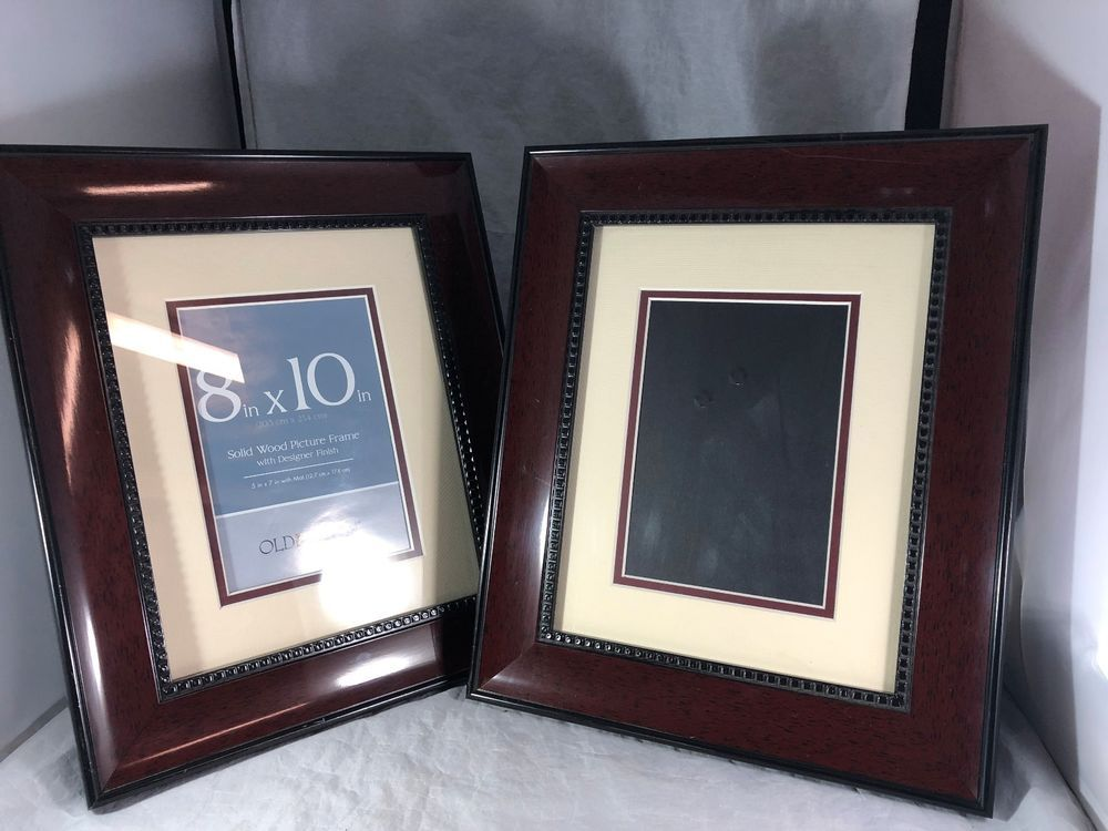 Old Town Pair Of 8x10 Solid Wood Picture Frames H1 Ebay Pinterest