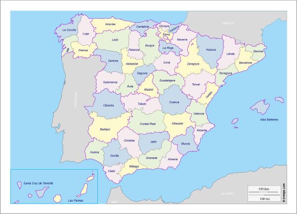 Map Pin In A Map Free Vector Instantshift Beautiful Free: Mapa Político De España - Vector
