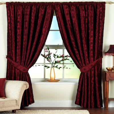 I Love These Burgundy Curtains
