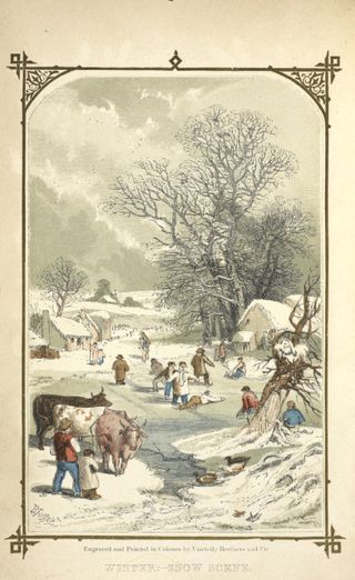 If Christmas Day on a Friday be   Snow scenes, Art, Painting