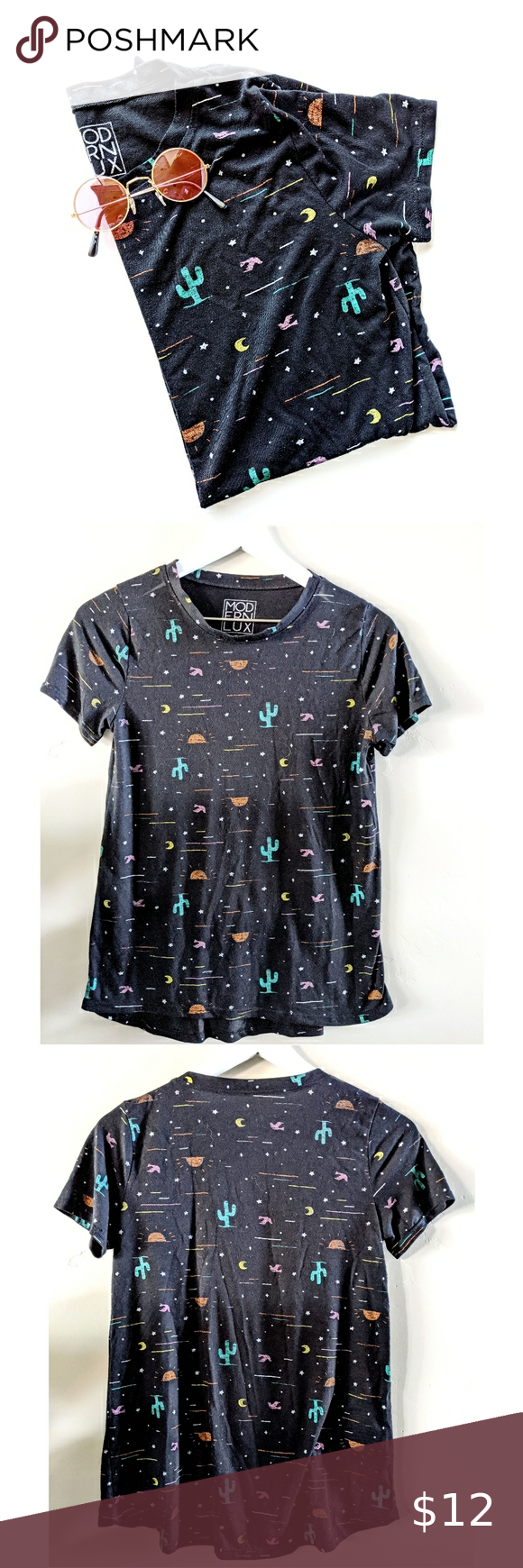 Modern Lux Desert Cactus Graphic Print T-shirt Summer kissed days are ahead in t...#ahead #cactus #days #desert #graphic #kissed #lux #modern #print #summer #tshirt