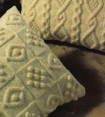 Knitting Pattern for FOUR Beautiful Aran Cushion Covers ...
