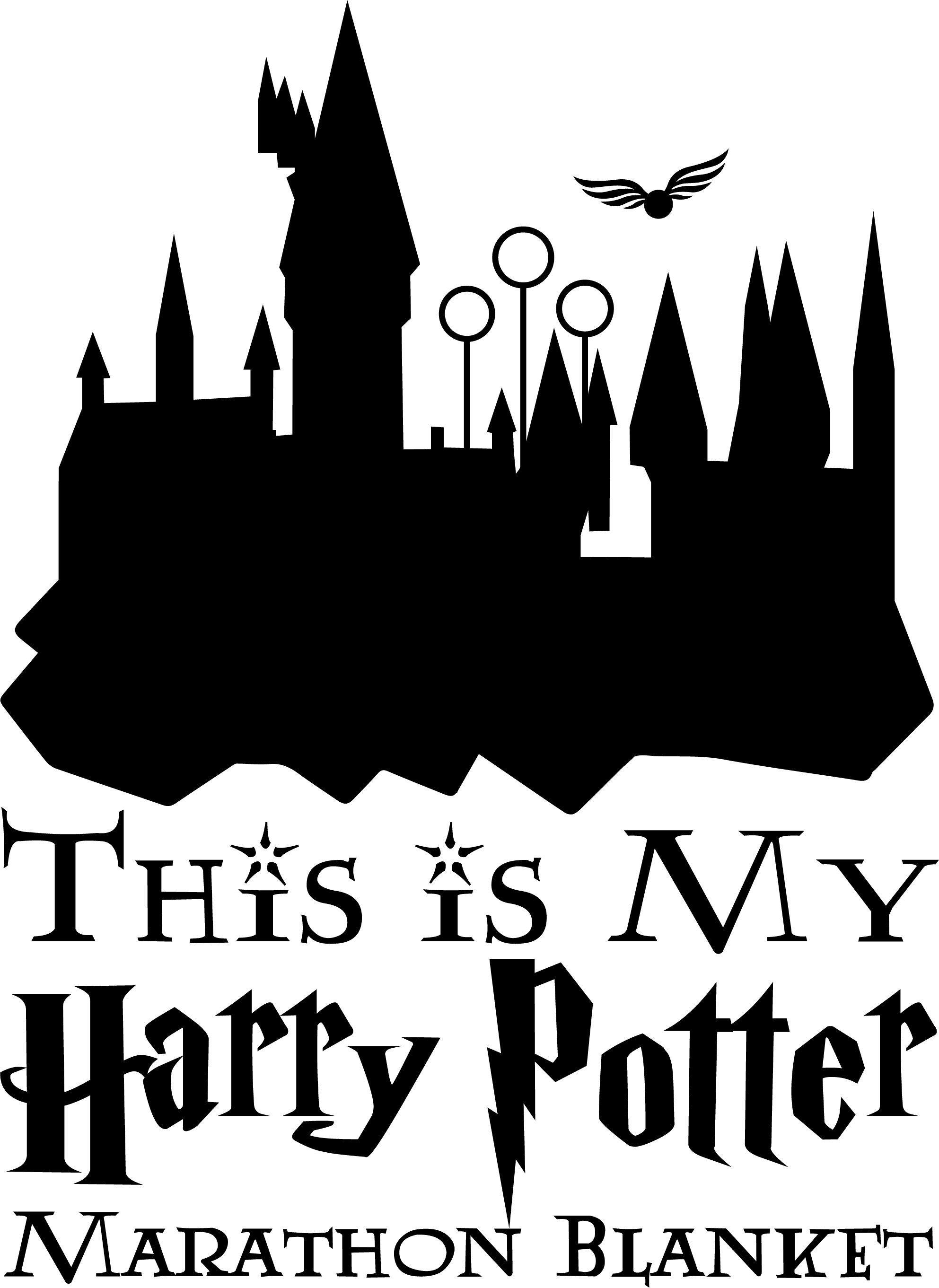 Harry Potter Marathon Blanket Harry Potter Marathon Potter Infusible Ink