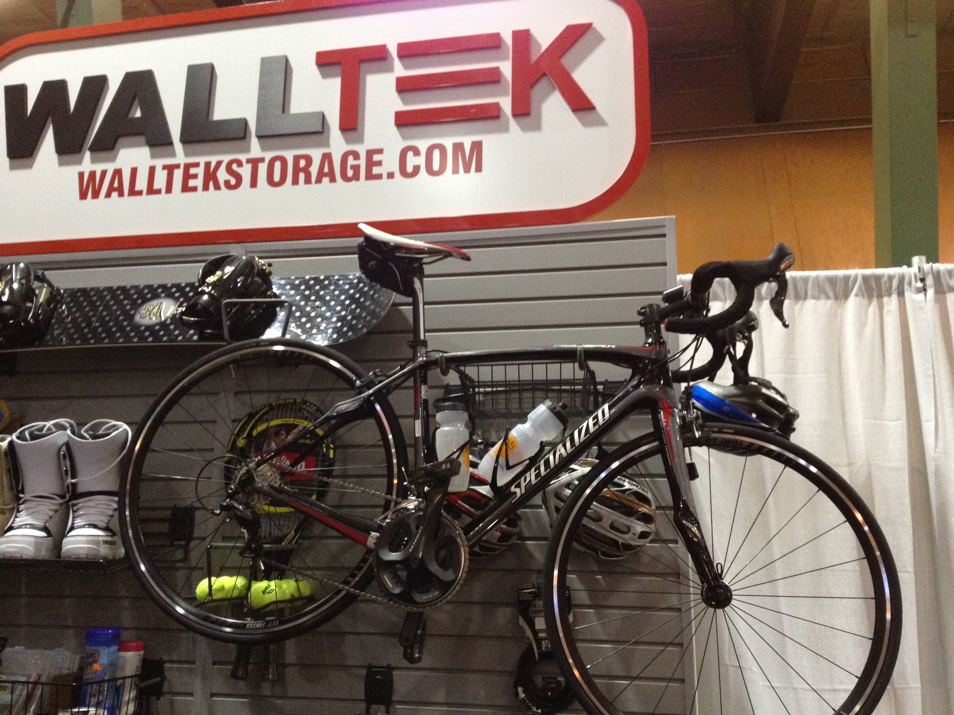 Walltek Storage Bikeorganizing Solution Using Bike Caddy Mounted