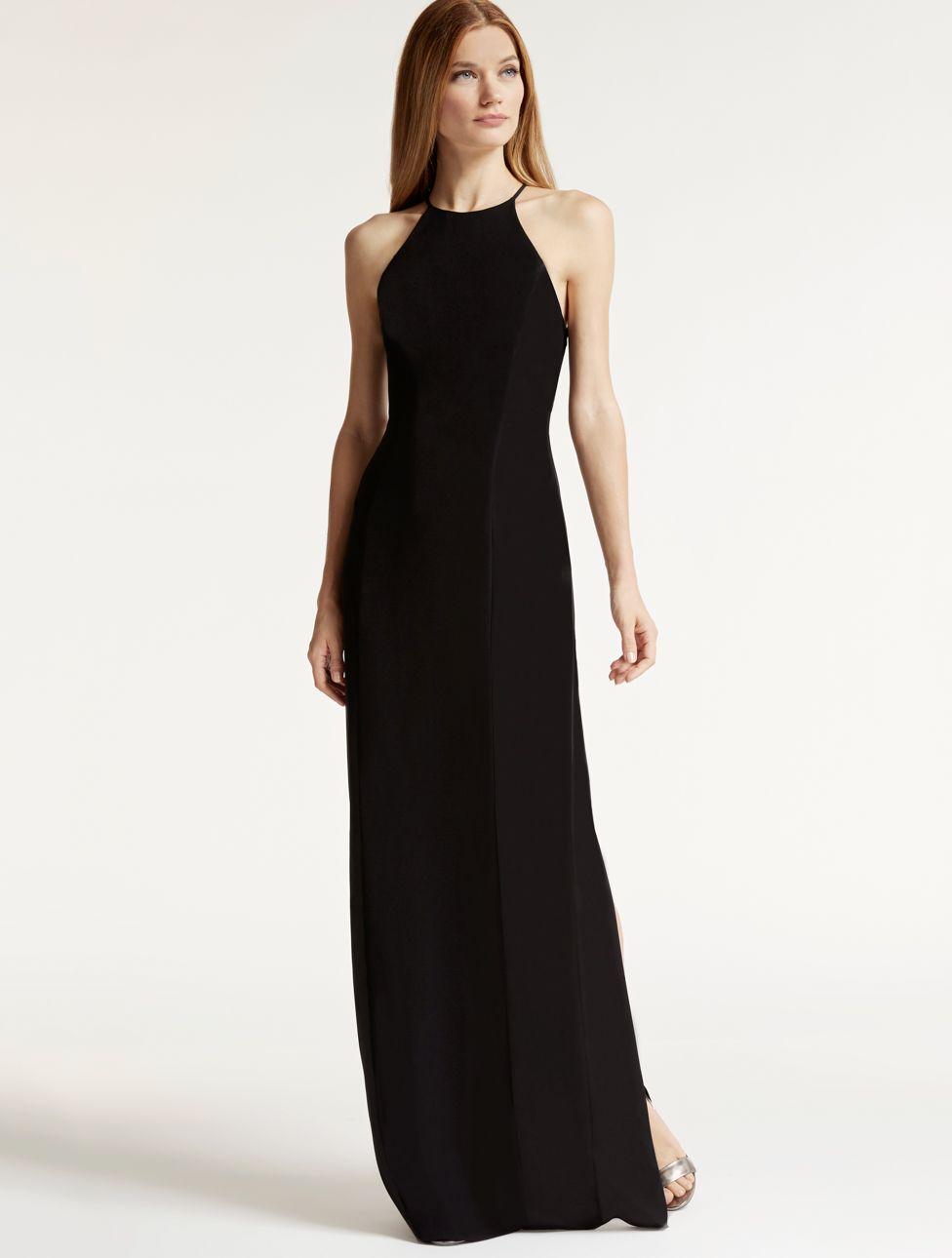 f5afe0dcc123 Crepe   Satin Minimalist Gown Halston Heritage Minimalistická Móda