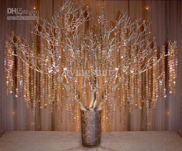 Wholesale Wedding Tree Buy 40meters Hand Strung Acrylic Crystal