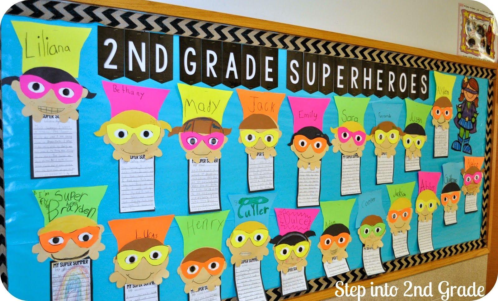 Classroom Rotation Ideas ~ Superhero writing on pinterest bulletin boards