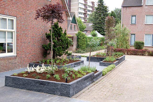 Afbeelding van tuin - Moderne tuin ingang ...
