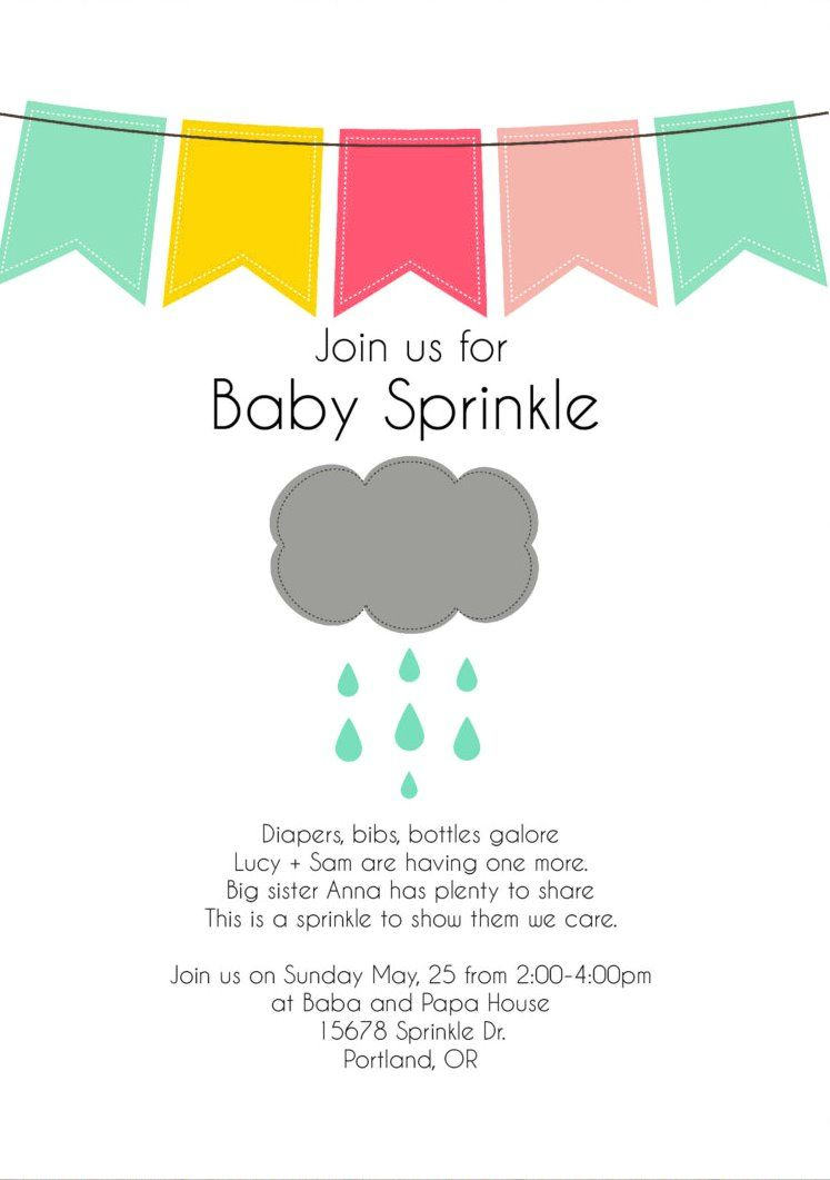 How To Know Second Baby Shower Invitation Wording Sprinkle Baby Shower Invitations Baby Sprinkle Invitations Baby Sprinkle Invitations Wording