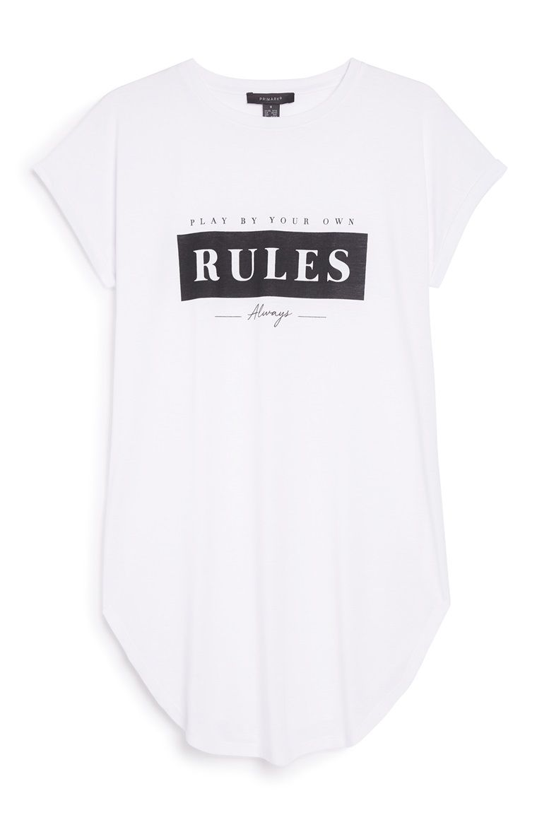 Wonderbaar White Slogan T-Shirt   what to wear in 2019   Slogan, Primark LP-69