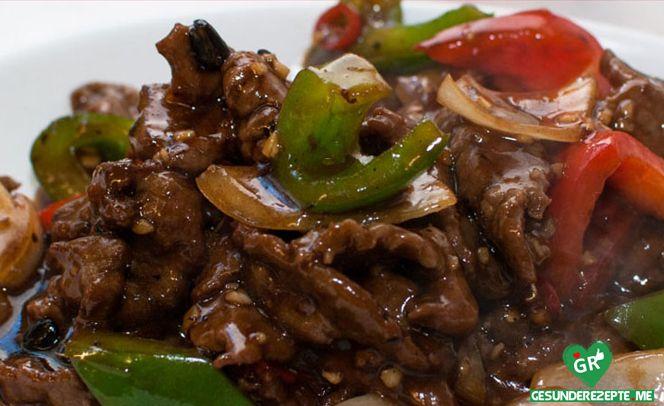Sommerküche Low Carb : In tee mariniertes rindfleisch mit buntem gemüse low slow carb