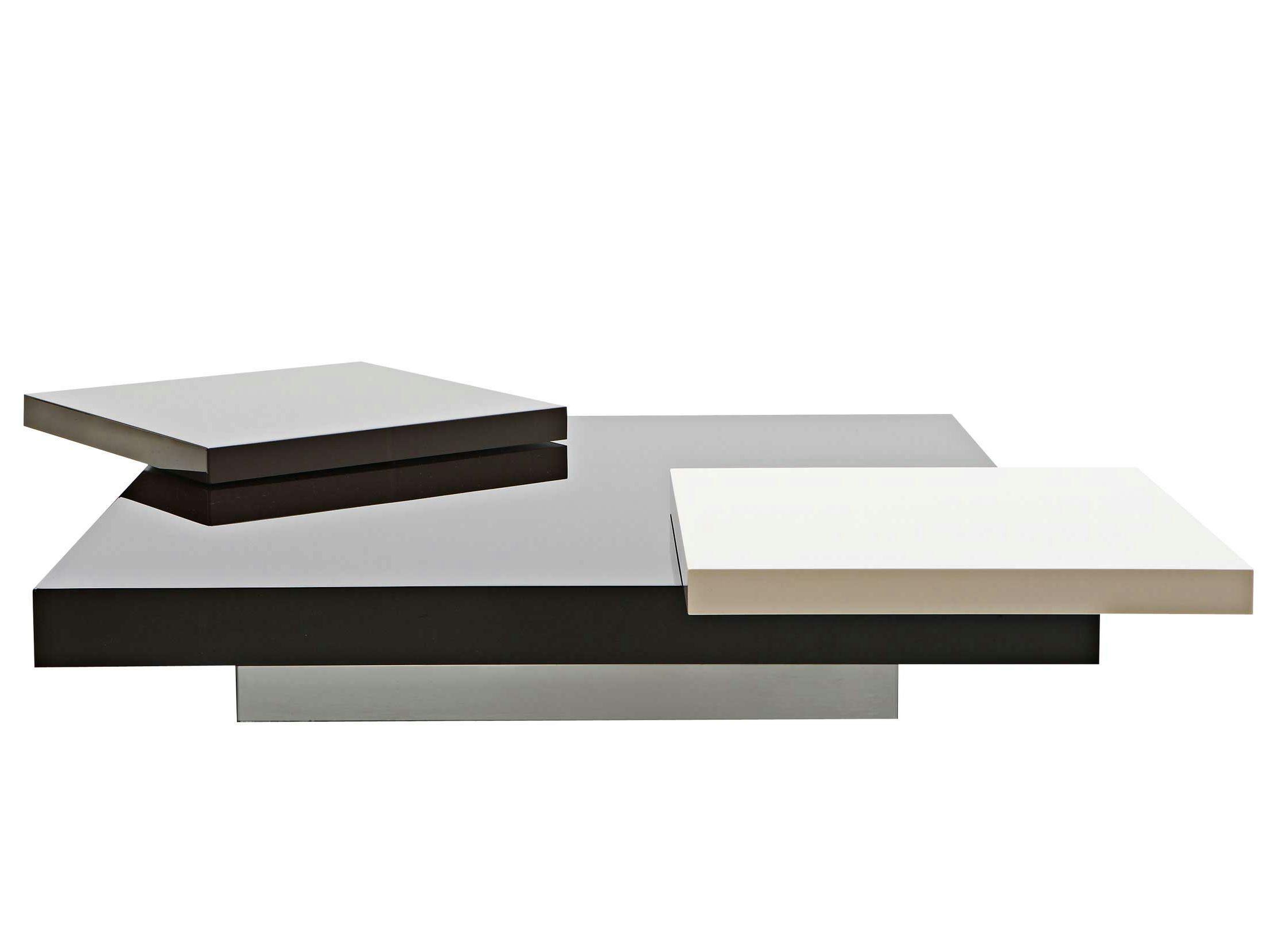 low square coffee table podium roche bobois