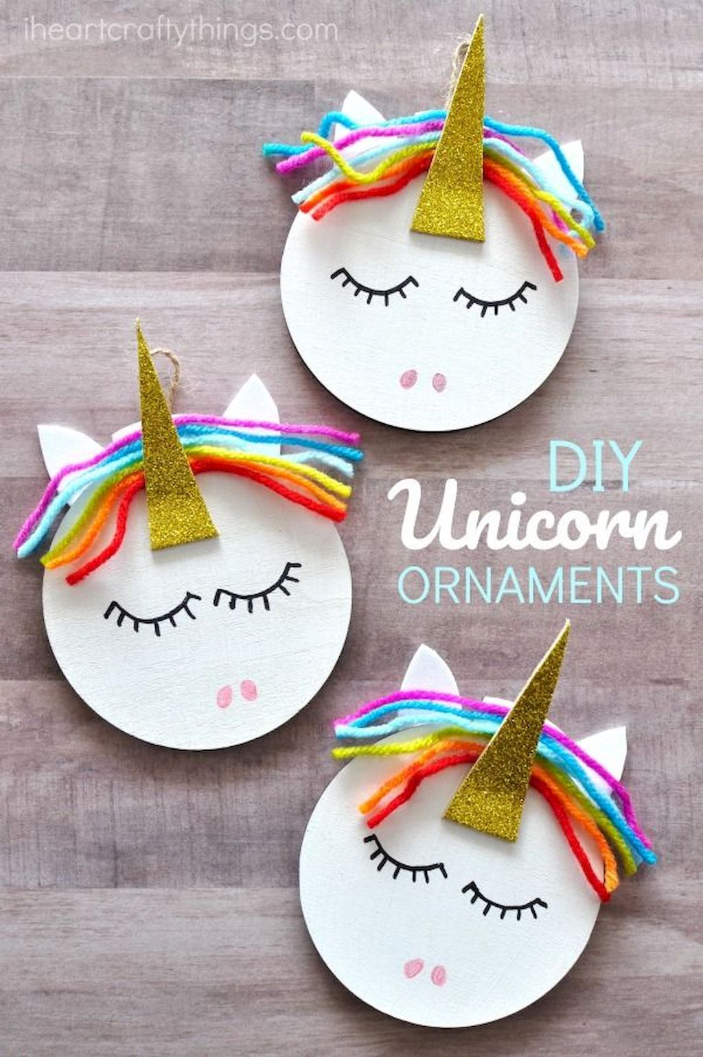 20 Cheap and Easy DIY Crafts Ideas For Kids  KID FRIENDLY  Unicorn ornaments Diy christmas